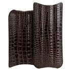 3-Churchill Brown Crocodile Case, , jrcigars
