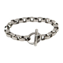 Stainless Circle Link Bracelet 8.5 In., , jrcigars