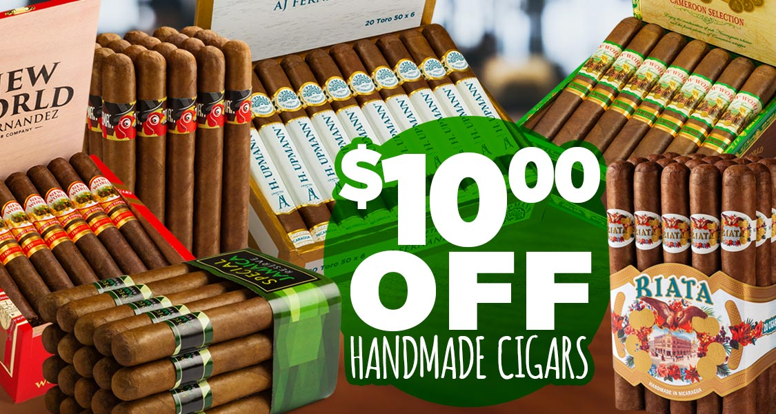 $10.00 Off Handmade Cigars